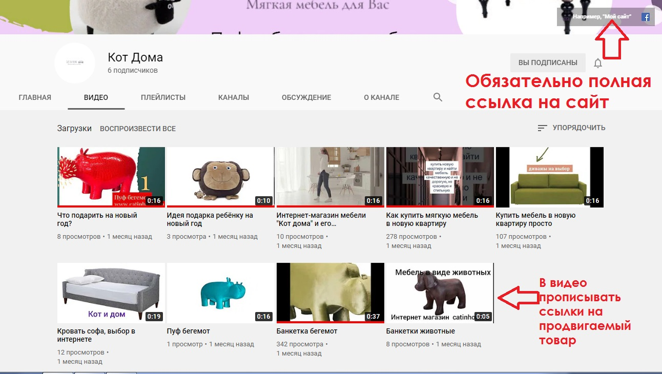 Кейс продвижение интернет магазина в YouTube